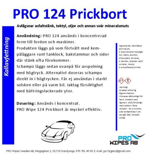 PRO 124 Prickbort