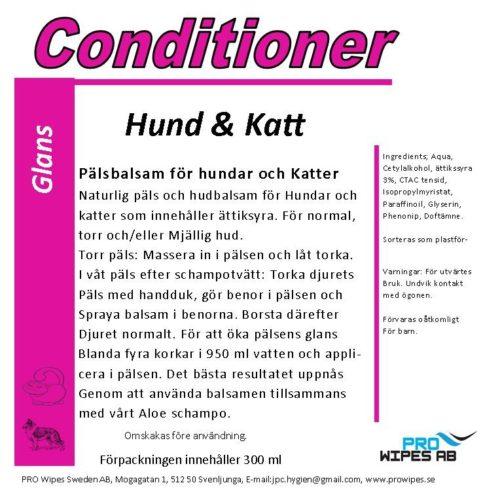 Conditioner Hund & Katt