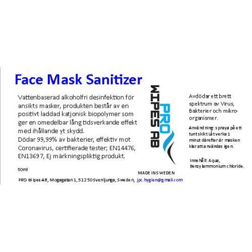 Face Mask Sanitizer