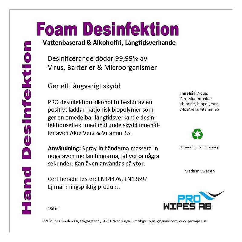Foam Handdesinfektion