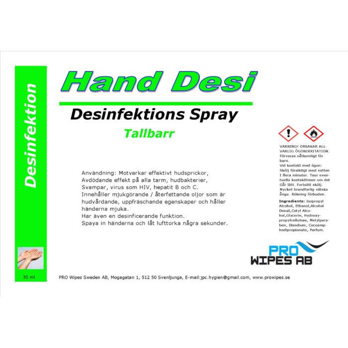 Handdesinfektion Tallbarr Sprayflaska
