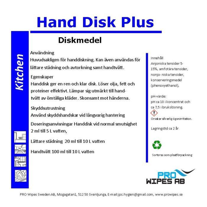 Handdisk Plus - diskmedel