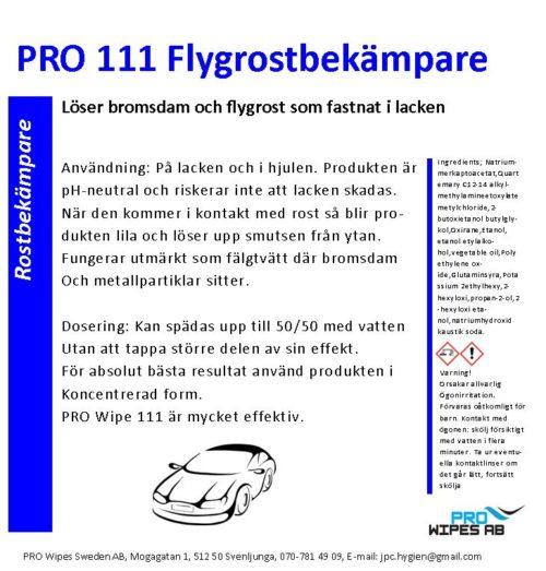 PRO 111 Flygrostbekämpare